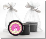 Sailboat Pink - Baby Shower Black Candle Tin Favors