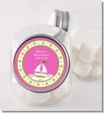 Sailboat Pink - Personalized Baby Shower Candy Jar