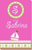 Sailboat Pink - Personalized Baby Shower Nursery Wall Art
