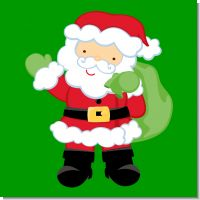 Santa's Green Bag Christmas Theme