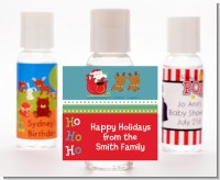 Santa And His Reindeer - Personalized Christmas Hand Sanitizers Favors