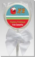 Santa And His Reindeer - Personalized Christmas Lollipop Favors
