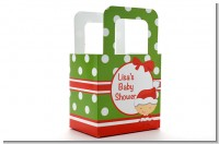 Christmas Baby Caucasian - Personalized Baby Shower Favor Boxes
