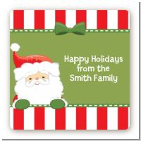 Santa Claus - Square Personalized Christmas Sticker Labels