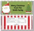 Santa Claus - Personalized Christmas Candy Bar Wrappers thumbnail