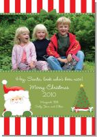 Santa Claus - Personalized Photo Christmas Cards