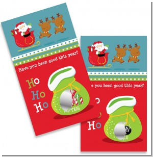 Santa And His Reindeer - Christmas Scratch Off Game Tickets