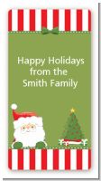 Santa Claus - Custom Rectangle Christmas Sticker/Labels