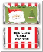 Santa Claus - Personalized Christmas Mini Candy Bar Wrappers