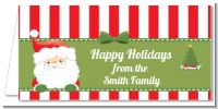 Santa Claus - Personalized Christmas Place Cards