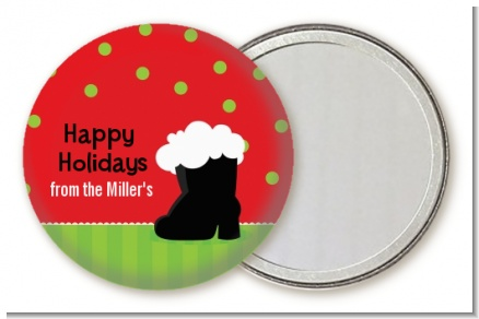 Santa's Boot - Personalized Christmas Pocket Mirror Favors