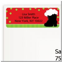 Santa's Boot - Christmas Return Address Labels