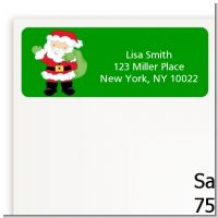Santa's Green Bag - Christmas Return Address Labels