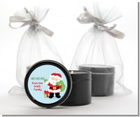 Santa's Green Bag - Christmas Black Candle Tin Favors