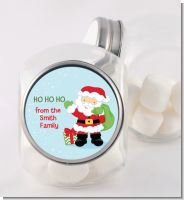 Santa's Green Bag - Personalized Christmas Candy Jar