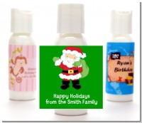 Santa's Green Bag - Personalized Christmas Lotion Favors