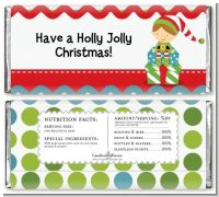 Santa's Little Elf - Personalized Christmas Candy Bar Wrappers