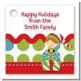 Santa's Little Elf - Personalized Christmas Card Stock Favor Tags thumbnail