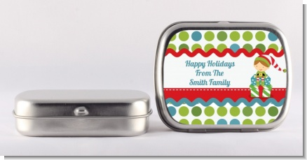 Santa's Little Elf - Personalized Christmas Mint Tins