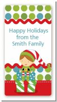 Santa's Little Elf - Custom Rectangle Christmas Sticker/Labels