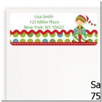 Santa's Little Elf - Christmas Return Address Labels