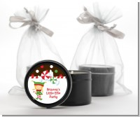 Santa's Little Elfie - Christmas Black Candle Tin Favors
