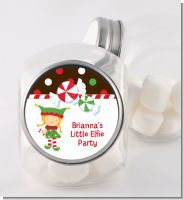 Santa's Little Elfie - Personalized Christmas Candy Jar