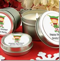 Santa's Little Elfie - Christmas Candle Favors
