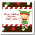 Santa's Little Elfie - Personalized Christmas Card Stock Favor Tags thumbnail