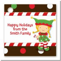 Santa's Little Elfie - Personalized Christmas Card Stock Favor Tags