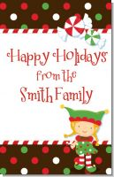 Santa's Little Elfie - Personalized Christmas Wall Art