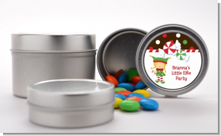Santa's Little Elfie - Custom Christmas Favor Tins