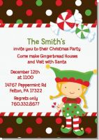 Santa's Little Elfie - Christmas Invitations