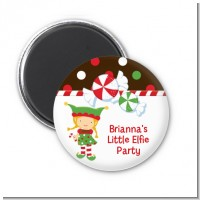 Santa's Little Elfie - Personalized Christmas Magnet Favors