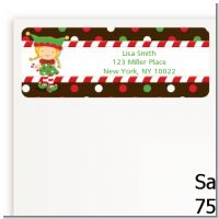 Santa's Little Elfie - Christmas Return Address Labels