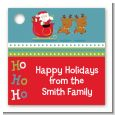 Santa And His Reindeer - Personalized Christmas Card Stock Favor Tags thumbnail
