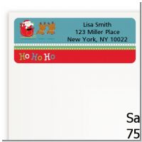Santa And His Reindeer - Christmas Return Address Labels