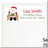 Santa's Work Shop - Christmas Return Address Labels