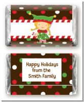 Santa's Little Elfie - Personalized Christmas Mini Candy Bar Wrappers