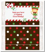 Santa's Little Elfie - Personalized Popcorn Wrapper Christmas Favors