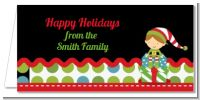 Santa's Little Elf - Personalized Christmas Place Cards