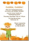 Pumpkin Patch Scarecrow Fall Theme - Thanksgiving Invitations