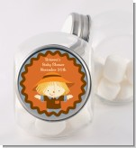 Scarecrow Fall Theme - Personalized Baby Shower Candy Jar