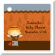 Scarecrow Fall Theme - Personalized Baby Shower Card Stock Favor Tags thumbnail