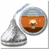 Scarecrow Fall Theme - Hershey Kiss Baby Shower Sticker Labels