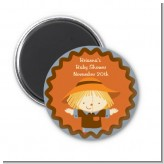 Scarecrow Fall Theme - Personalized Baby Shower Magnet Favors