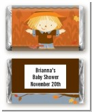 Scarecrow Fall Theme - Personalized Baby Shower Mini Candy Bar Wrappers