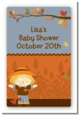 Scarecrow Fall Theme - Custom Large Rectangle Baby Shower Sticker/Labels