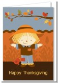 Scarecrow Fall Theme - Baby Shower Thank You Cards