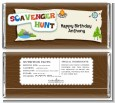Scavenger Hunt - Personalized Birthday Party Candy Bar Wrappers thumbnail